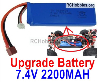 Wltoys 124016 Battery Pack-7.4V 2200mah 25C Battery.