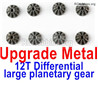 Wltoys 12428 Upgrade Metal 12T Differential large planetary gear