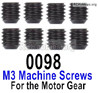 Wltoys 12428 M3 Machine Screws-M3X3-12428-0098