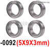 Wltoys 12428 Bearing-5X9X3mm,12428-0092,Total 4pcs