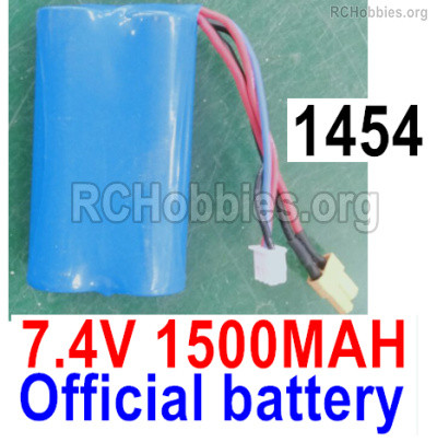 Wltoys 16800 RC Battery Packs, 1454. Lithium Iron battery,7.4v 1500mah 15C Battery with XT30 Plug.