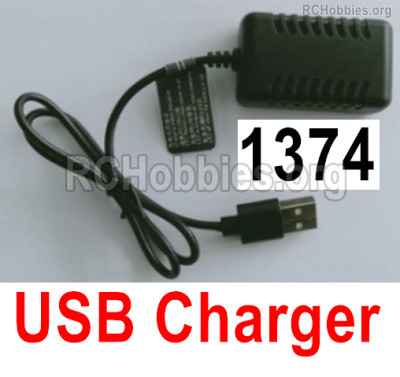 Wltoys 16800 USB Charger. 1374. 7.4V 2000mAh USB Charger wire and Balance charger.