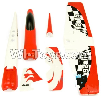 Wltoys F929 Plane Parts-Outer foam shell unit(Include the Main Wing,Upper and Bottom Foam Fuselage Body,Tail cover,Horizontal and verticall wing)