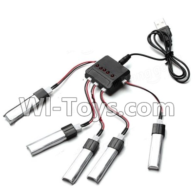 Wltoys F929 Plane Parts-Upgrade 1-to-5 balance charger and USB Charger & coversion Wire(5pcs)