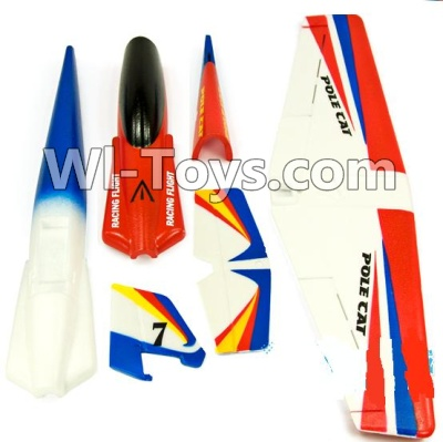 Wltoys F939 Plane Parts-Wltoys F939 Plane Parts-Outer foam shell unit(Include the Main Wing,Upper and Bottom Foam Fuselage Body,Tail cover,Horizontal and verticall wing)