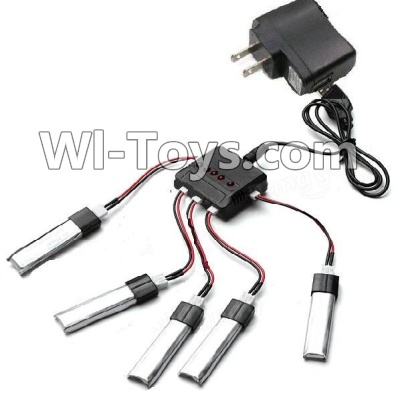 Wltoys F939 Plane Parts-Upgrade 1-to-5 balance charger and USB Charger & coversion Wire(5pcs) & USB-To-Socket Conversion Plug,Wltoys F939 Parts
