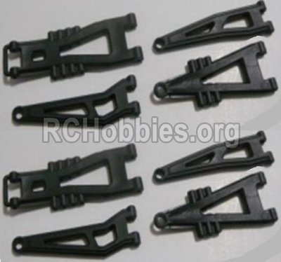 HBX Survivor MT Parts-Front And Rear Suspension Arms,Front And Rear Swing Arm(Total 8PCS) Parts-12603