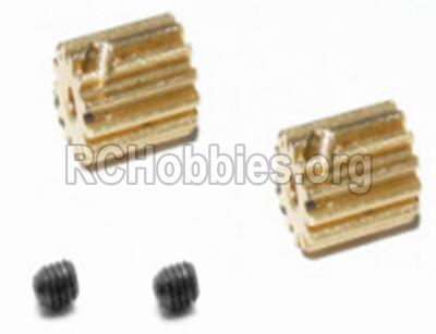 HBX Survivor MT Parts-BRUSHLESS Upgrade Metal Motor Pinion Gears 16T(2pcs) & Set Screws 33mm(2pcs) Parts-12528
