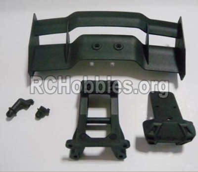 HaiBoXing HBX 12812 Parts-Tail wing & Tail wing frame & Column for the Car canopy(For Off-road vehicles) Parts-12606