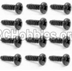 HaiBoXing HBX 12812 Parts-Screw Parts-Round Head Self Tapping Screw-2.6x8mm(12PCS) Parts-S018