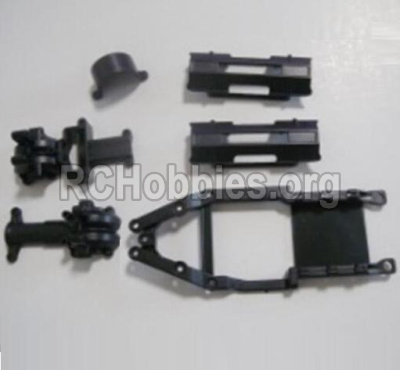HBX 12813 Survivor MT Parts-Gear Box Housing & Upper Deck,Second Floor plate & Battery Cover Parts-12601R
