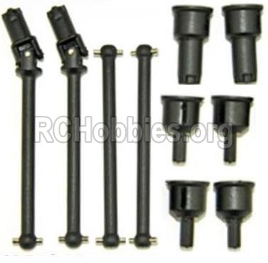 HBX 12813 Survivor MT Parts-Front and Rear Drive Shaft Kit(Dog bones)-4pcs & Dogbone Cups(6pcs) Parts-12604R