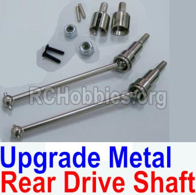 HBX 12813 Parts-Upgrade Metal Rear CVD Shaft & nuts & screws & wheel pins & Metal Differential Cup-(Total For Rear Car) Parts-12711