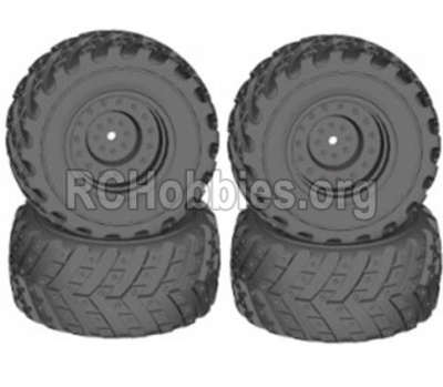 HBX 12813 Survivor MT Parts-Wheels Parts-Wheels Complete(4PCS)-(Include the Wheel hub and Tire lether) Parts-12621