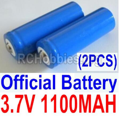 HBX 12813 Parts-Battery Parts-Official 3.7V 1100mAH Battery(Li-ion Batteries)-2pcs,(This parts now has no produce ,you can buy the upgrade 1500mah battery ,and buy 12600BT Chassis,Bottom frame(For 1500mah) together)-12619A