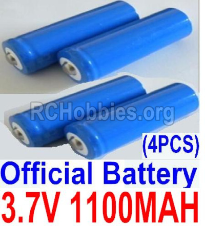 HBX 12813 Survivor MT Parts-Battery Parts-Official 3.7V 1100mAH Battery(Li-ion Batteries)-4pcs,(This parts now has no produce ,you can buy the upgrade 1500mah battery ,and buy 12600BT Chassis,Bottom frame(For 1500mah) together)-12619A