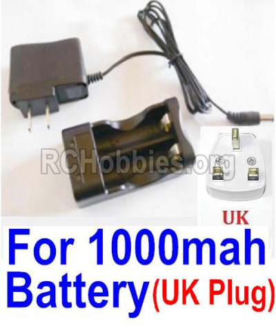 HBX 12813 Survivor MT Parts-Charge Box and Charger(United Kingdom Standard Socket)-(Can only be used for 1000mah Battery) Parts-25209