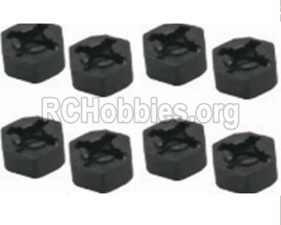 HBX 12813 Survivor MT Parts-Hexagon Wheel Seat(4pcs) Parts-12010