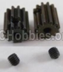 HBX 12813 Survivor MT Parts-Motor Pinion Gears 13T(13 Teeth)& Set Screws-3X3mm(2pcs) Parts-12026