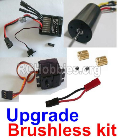 HBX 12813 Survivor MT Parts-Upgrade Brushless kit(Include ESC,Brushless motor,Sero,motor gear,screws,and wire) Parts
