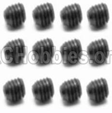 HBX 12813 Survivor MT Parts-Screw Parts-Set Screw-3X3mm(12PCS) Parts-S016