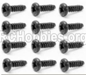 HBX 12813 Survivor MT Parts-Screw Parts-Round Head Self Tapping Screw-2.6X10mm(12PCS) Parts-S029