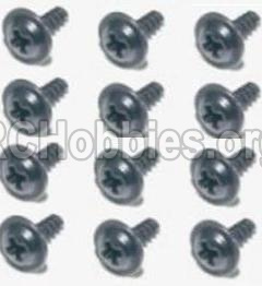 HBX 12813 Survivor MT Parts-Screw Parts-Flange Head Self Tapping Screws 2.6X8mm(12PCS) Parts-S160