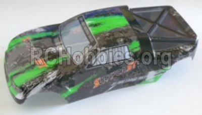 HBX 12813 Survivor MT Parts-Body shell cover Parts-Buggy Body shell,Car shell-Green Parts-12685