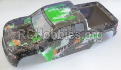 HBX 12813 Survivor MT Parts-Body shell cover Parts-Truck Body shell,Car shell-Green Parts-12688