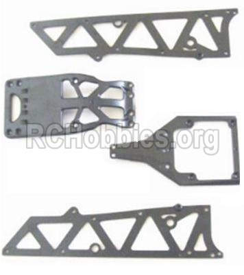 HBX 12881 VORTEX Parts-Parts-Front side panel & motor cover & upper Steering seat Parts-12002P