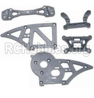 HBX 12881 VORTEX Parts-Parts-Chassis Side Plates B & Shock Absorbers board Parts-12006