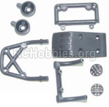 HBX 12881 VORTEX Parts-Front bottom seat Assembly & Light cover & Front upper seat Parts-12014