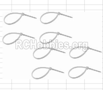 HBX 12881 VORTEX Parts-Zip Ties - Small(8pcs) Parts-P011