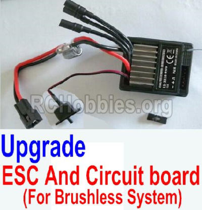 HBX 12881 VORTEX Parts-Upgrade Brushless ESC and Circuit board Parts-12216