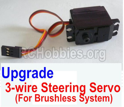 HBX 12881 VORTEX Parts-Upgrade Brushless 3-wire Steering Servo Parts-12224