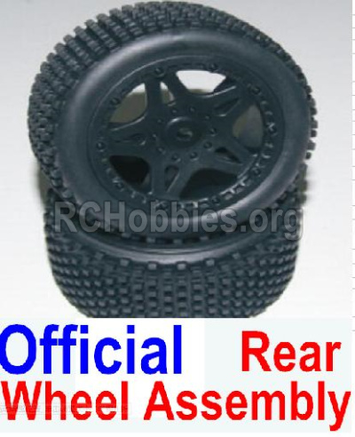 HBX 12881 VORTEX Parts-wheel Parts-Official Rear wheel assembly(2 set)-Include Tire lether and wheel hub Parts-12039