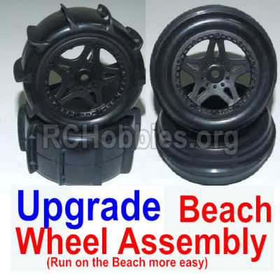 HBX 12881 VORTEX Parts-Upgrade Front and Rear Beach Wheels assembly(4 set)-Run on the Beach more easy and fast Parts-12117+12218