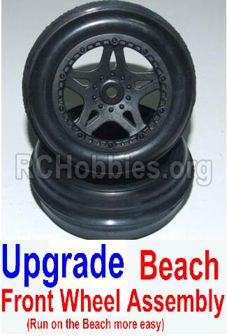 HHBX 12881 VORTEX Parts-Upgrade Front Beach Wheels assembly(2 set)-Include Tire lether and wheel hub Parts-12117