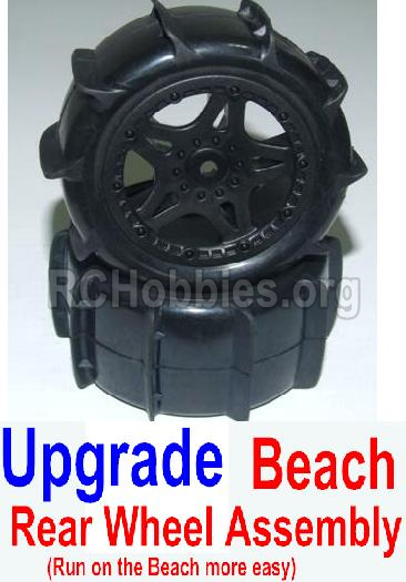 HHBX 12881 VORTEX Parts-Upgrade Rear Beach Wheels assembly(2 set)-Include Tire lether and wheel hub Parts-12118