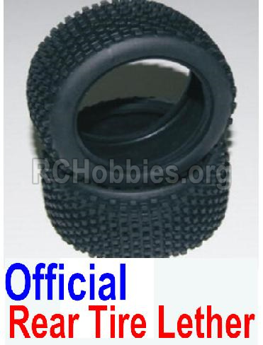 HBX 12881 VORTEX Parts-tire lether Parts-Official Rear tire lether(2pcs)-Not Include the wheel hub Parts-12037