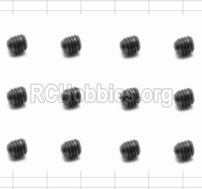 HBX 12881 VORTEX Parts-Screws Parts-Set Screw(12pcs)-3X3mm Parts-S016