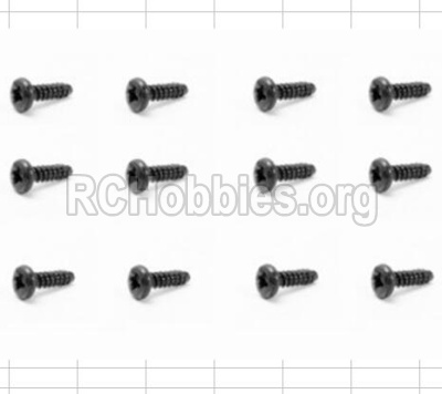HBX 12881 VORTEX Parts-Screws Parts-Round Head Self Tapping Screw(12pcs)-2.6X6mm Parts-S089