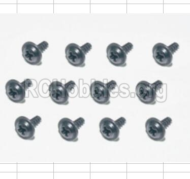 HBX 12881 VORTEX Parts-Screws Parts-Flange Head Self Tapping Screws(12pcs)-2.6X8mm Parts-S160