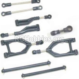 HBX 12885 Iron Hammer Parts-Front Upper or Rear Upper Swing Arm & Steering Linkage set & Servo Linkage Set & Servo shaft Parts-12003