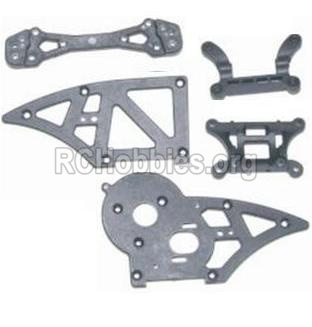 HBX 12885 Iron Hammer Parts-Chassis Side Plates B & Shock Absorbers board Parts-12006