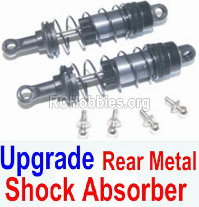 HBX 12885 Iron Hammer Parts-Upgrade Rear Metal hydraulic shock absorber(2pcs) Parts-12204