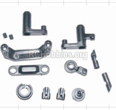 HBX 12885 Iron Hammer Parts-Steering Assembly & Servo Saver Assembly & Battery Door Block,Battery Door Lock Parts-12009P
