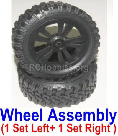 HBX 12885 Iron Hammer Parts-Official Left and Right wheel assembly(2 set-1x Left and 1X Right) Parts-12065