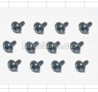 HBX 12885 Iron Hammer Parts-Flange Head Self Tapping Screws(12pcs)-2.6X8mm Parts-S160