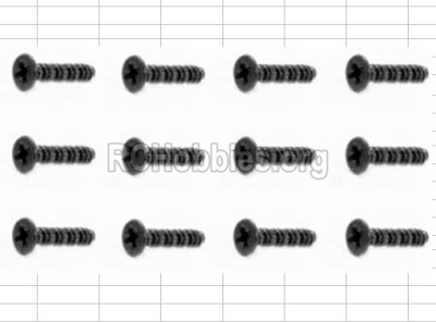 HBX 12885 Iron Hammer Parts-Countersunk Self Tapping Screw(12pcs)-2.6X18mm Parts-S162